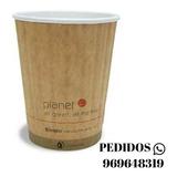 Vasos Biodegradables Y Ecológicos, 12/16 Onzas Con Tapa