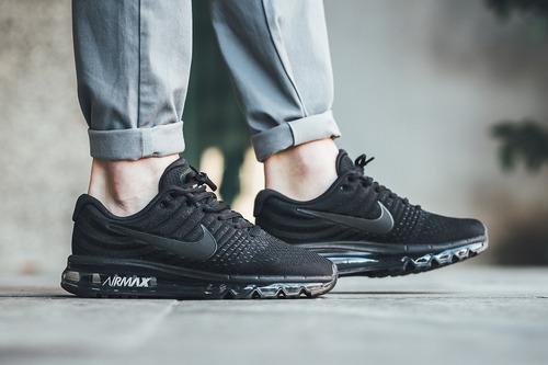 Zapatillas Nike Air Max 2017 Negras Originales. S . d7b010a4b56