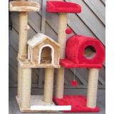 Casa De Gatos Rascador 3 Niveles