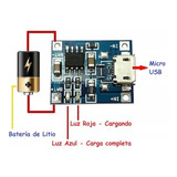 Módulo Tp4056 Cargador Baterías Litio Micro Usb