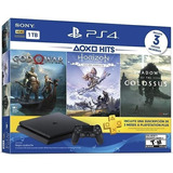 Ps4 Play Station 4 Slim 1tb Hits Bundle 4 + 3 Juegos + Plus