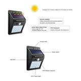 Reflector Led Panel Solar Sensor Pir Foco Detecta Movimiento