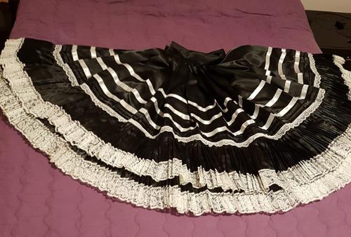 75d3ca14aa Falda De Marinera Norteña Color Negro Niña8años Wp971441110