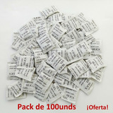 Pack 100 Unidades Silica Gel Original Sellada Oferta!