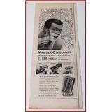 Dante42 Publicidad Antigua Retro Barberia Gillette 1956