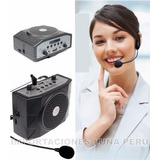 Amplificadores Voz Con Microfono Vincha, Radio, Usb