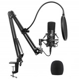 Micrófono Condesador  Soporte Antipop  Kit Podcast  Youtuber
