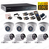 Kit 8 Camaras De Seguridad Hikvision Turbo Full Hd 1080p