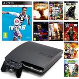 Ps3 Playstation 3 500gb Flasheado + 25 Juegos Envios A Peru