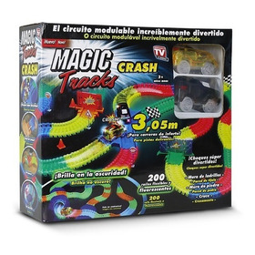 Pista De Carreras Magic Tracks Crash, 2 Carritos Nuevos