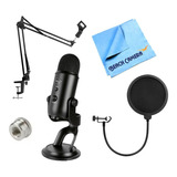 Micrófono Blue Yeti Kit /brazo/ Filtro Pop/adapta Regalo ! !