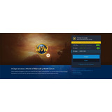 World Of Wacraft-tiempo De Juego 30 Días- Retail Y Classic