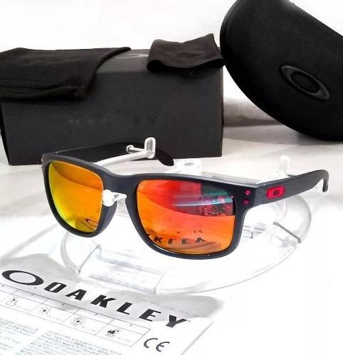 805d0250a Lentes De Sol Oakley Holbrook Polarized Fire Iridium Polariz