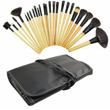 Set De 24 Brochas Maquillaje Profesional + Estuche