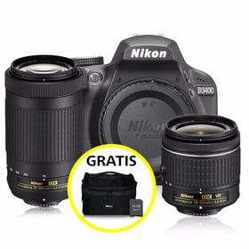 Kit Cámara Profesional Reflex Nikon D3400 C/18-55 Y 70-300