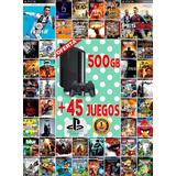 Play Station 3 De 500gb Con 45 Juegos Digitales