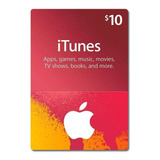 Itunes Apple Card $10 iPod iPhone iPad Mac - Tarjeta Prepago