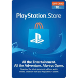 $10 Psn Tarjeta Playstation Ps4 Ps3 Store Usa [digital Code]