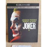 Joker 4k Bluray Película Hd Slipcover Nuevo Original Sellado