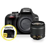 Kit Cámara Profesional Reflex Nikon D3400 Negro C/18-55mm