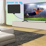 Antena Tv Full Hd Uhf/vhf C/amplificador Top Mundial