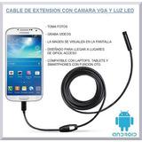Cable De Extensión Con Cámara De Fotos/vídeos Y Luz Led
