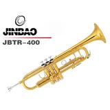Trompeta Dorada Jinbao Jbtr400 Doble Puente  Estuche Rigido