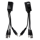 Video Balun Hd Rj-45 Video Corriente Y Audio