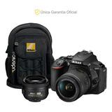 Nikon Oficial D5600 18-55 Vr, 35 F/1.8 Y Mochila