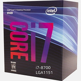 Proc Intel Core I7 8700k 3.7ghz Lga 1151 Stock!