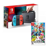 Consola Nintendo Switch Neon Red & Blue + Super Smash Bros