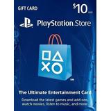 $10 Psn Play Station Network Card Para Store Usa