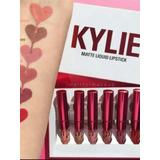 Kit 6 Labiales Mate Kylie Jenner Edición  Valentine Original