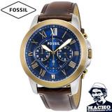 Reloj Fossil Grant Fs5150 Acero Original Con Garantia Caja