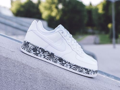 Zapatilla Nike Air Force One Floral White  Made In Vietnam S