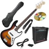 Gran Pack Bajo Electrico Amplificador Accesorio Mod J-bass