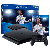 Ps4 Consola Play Station 4 Slim - 1000 Gb - Juego Fifa 18