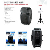 Parlante Activo Bluetooth Usb 15  + Micro + Pedestal + Envio