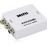 Adaptador Conversor Convertidor Rca A Hdmi Video 720 1080 P