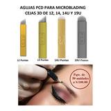 Agujas Pcd Microblading Cejas 3d Maquillaje Permanente