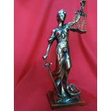 Dama De La Justicia En Bronce Altura 34 Centimetros