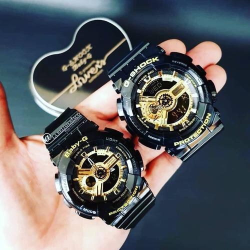 7a35725f502c Relojes Casio Pareja G Shock Ga110+baby G