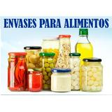 Conserveros O Frascos De Vidrio Transparente Para Alimentos