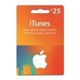 Itunes Apple Card $25 iPod iPhone iPad Mac - Tarjeta Prepago