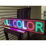 Letrero Led Publicitario Programable 100x20cm Full Color