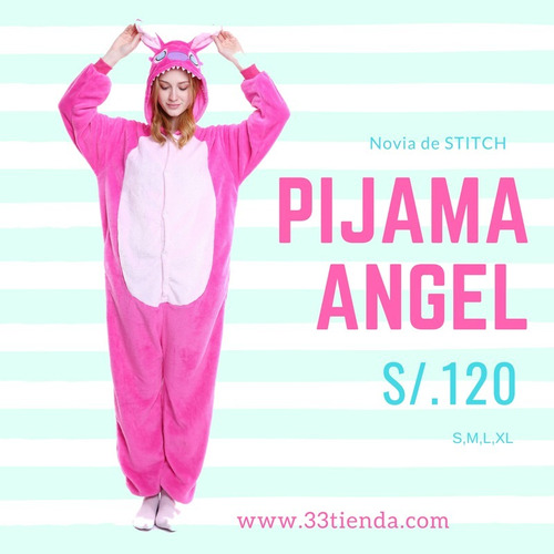 1a92f7306aa Pijama Novia De Stitch Angela Onesie Tallas S