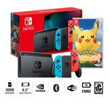 Nueva Consola Nintendo Switch 2019 + Pokemon Lets Go Pikachu