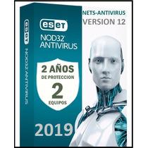Eset Nod32 Antivirus 2 Años Una Licencia Original (2pc) 2019
