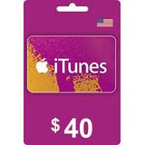 Itunes 40$ D