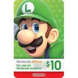 $10 Nintendo Eshop Tarjeta Store Usa [código Digital]